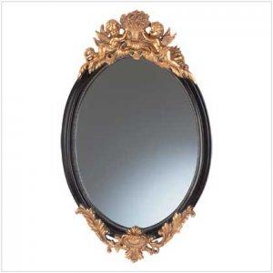 Baroque Wall Mirror with Cherubs