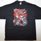 "New Men's Motorcycle T-shirt Size 2XL ""Dixie Pride Freedom To Ride"""