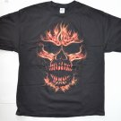 New Motorcycle Graphic T-shirt w/ Skull Fire Size XL