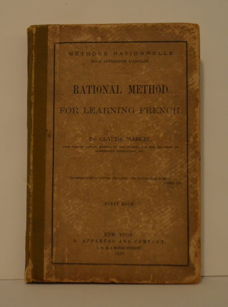 RATIONAL METHOD FOR LEARNING FRENCH by Claude Marcel 1886