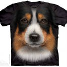 The Mountain Graphic Tee Australian Shepherd Tshirt Size L