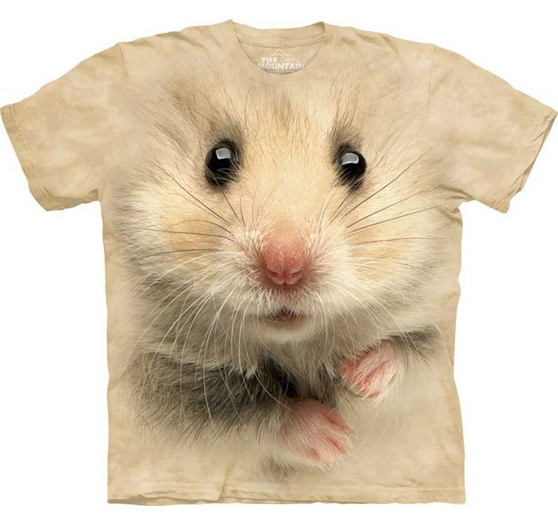 The Mountain Graphic Tee Hamster Face T-Shirt Size L