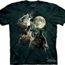 The Mountain Graphic Tee Three Wolf Moon Classic T-Shirt Size L