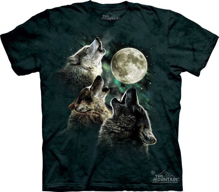 The Mountain Graphic Tee Three Wolf Moon Classic T-Shirt Size XL
