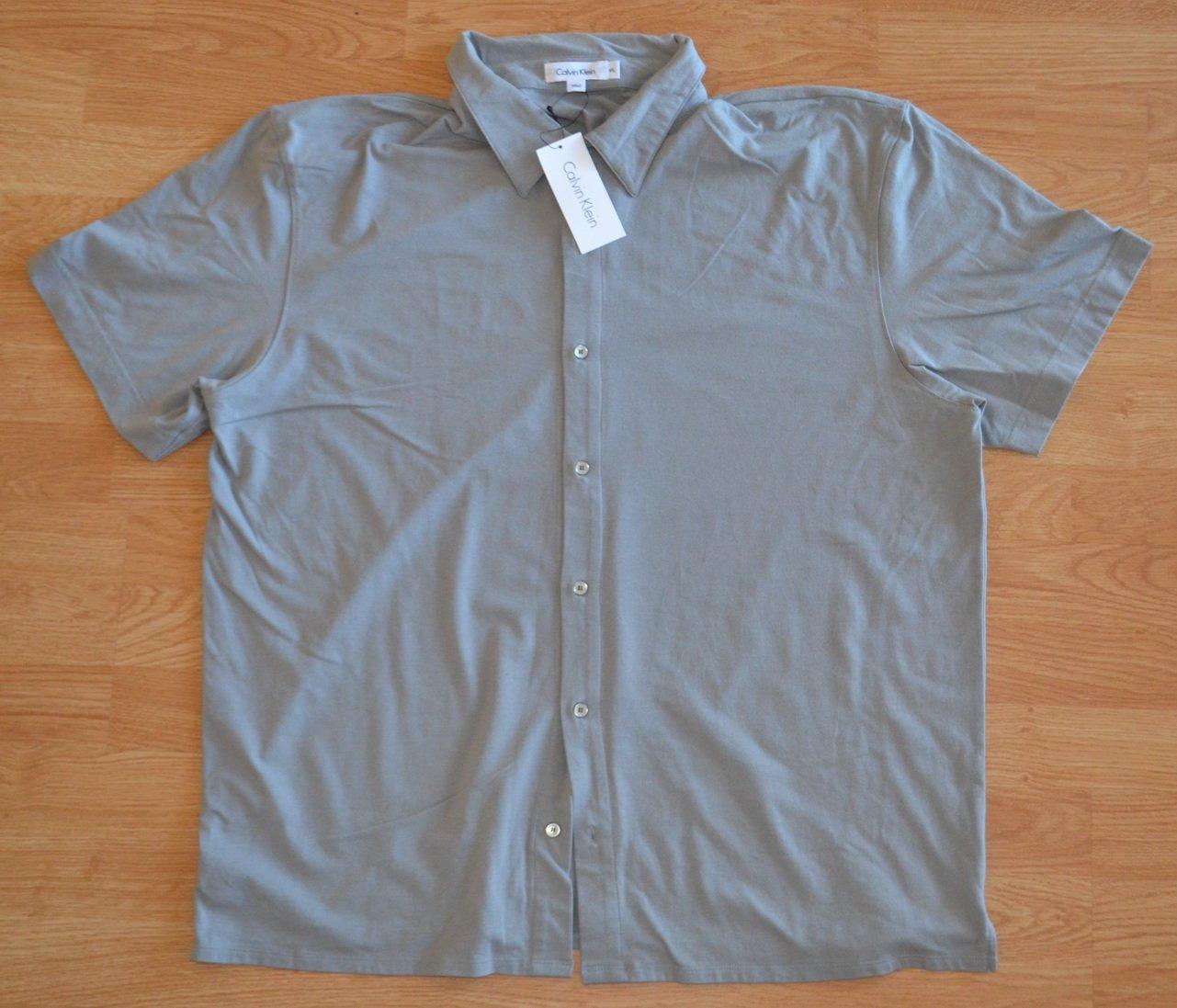 N956 New Men's shirt CALVIN KLEIN Size XXL MSRP $56.00
