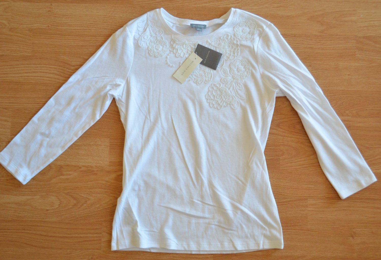 N972 New Women's top ANN TAYLOR Size S 100% cotton