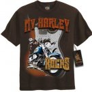 P012S New Boy's T-shirt HARLEY-DAVIDSON Size S Brown