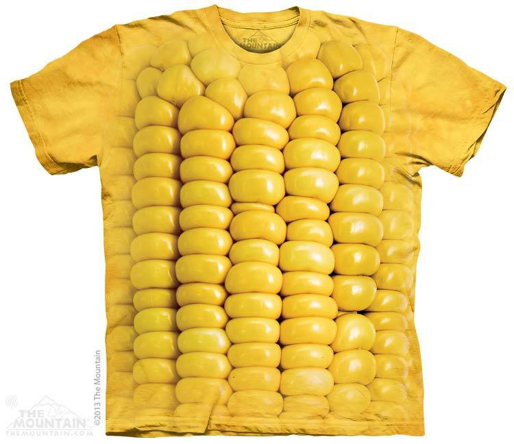 The Mountain Graphic Tee Corn on the Cob T-Shirt Size S