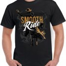 Mens Graphic Tee Smooth Ride Bull Riding Cowboy Western Rodeo T-Shirt Size S