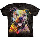 The Mountain Mens Graphic Tee Beware Of Pitbulls T-shirt Size L