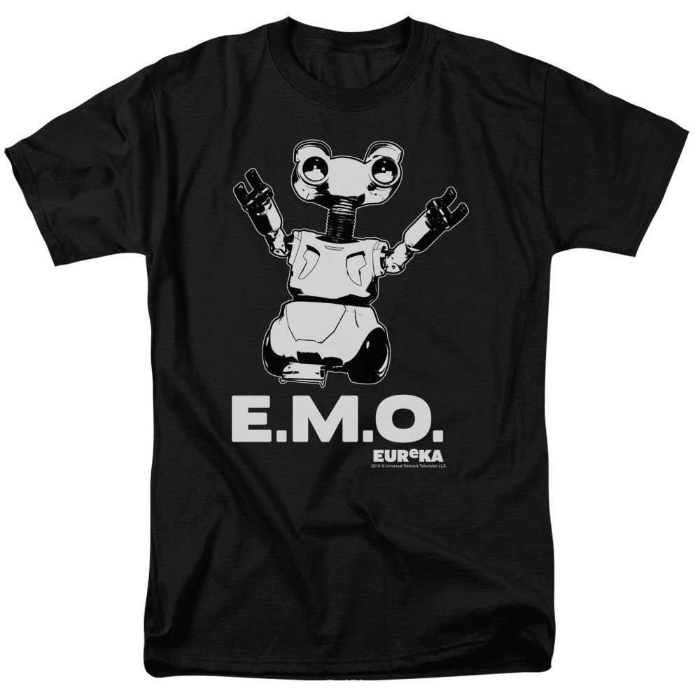 Eureka EMO Juniors T-Shirt 100% cotton Black Size L