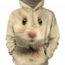 The Mountain Hamster Face Hoodie Size XL