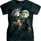 The Mountain Three Wolf Moon Classic Ladie Graphic T-shirt Size L