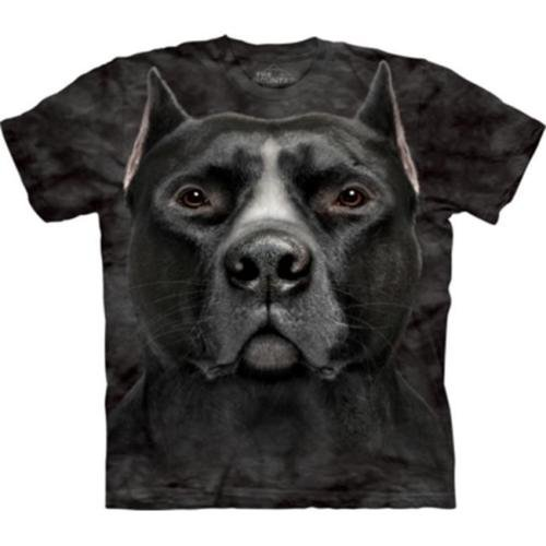 The Mountain Boys Graphic Tee Black Pit Bull Head Youth T-Shirt Size L