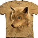 The Mountain Mens Graphic Tee Wolf Golden Eyes T-shirt Size S
