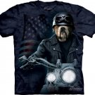 The Mountain Mens Graphic Tee Biker Sam T-shirt Size M
