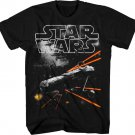 Boys Graphic Tee STAR WARS, ON THE RUN Youth T-Shirt Black Size M