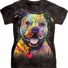 The Mountain Beware Of Pitbulls Adult Ladie Graphic T-shirt Size L