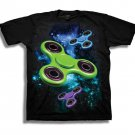 Boys Graphic Tee Spinners in Galaxy Youth Softspun T-shirt Size L