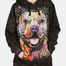The Mountain Beware Of Pit Bulls Hoodie Size M