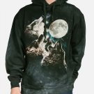 The Mountain Three Wolf Moon Classic Hoodie Size L