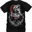 Fifth Sun Graphic Mens T-shirt Aztlan Cuauhtemoc Size M