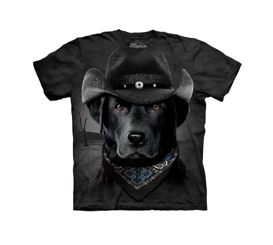 The Mountain Graphic Tee Cowboy Lab T-Shirt Size L