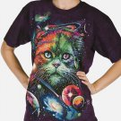 The Mountain Graphic Tee Cosmic Cat T-shirt Size L