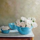 "White Roses in Blue Bowl 20"" x 24"" Original Oil"