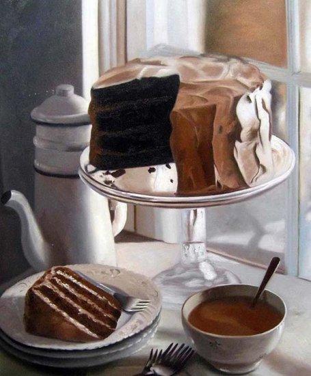 "Chocolate layer cake 20"" x 24"" Original Oil"