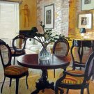 "Dining table and chairs in home 20"" x 24"" Original Oil"