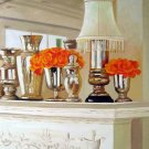 "Orange Roses in Mercury Glass Vases 20"" x 24"" Original Oil"