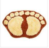 Brown Cute Big Feet Bathroom Absorbent Mats Door mats Footprints Floor Rugs & Floor Mats