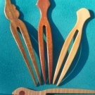 Handmade Wooden Hair Forks