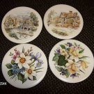 COASTERS SET OF 4 MADE IN WALES BY RIEVELEY CERAMICS