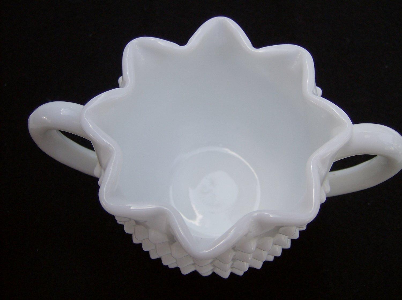 Fenton White Milk Glass Hobnail Bowl