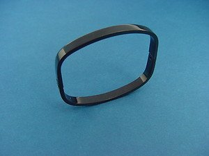 stainless steel square bangle in long lasting IP black color 427