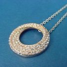pendant in rose gold with over 100 CZ stones and chain in stainless steel 672