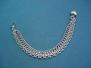 women's stainless steel string bracelet with dangling heart 269