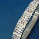stainless steel expansion bracelet with 39 multi colored Swarovski stones 668
