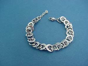 women's stainless steel shiny circle chain bracelet 270