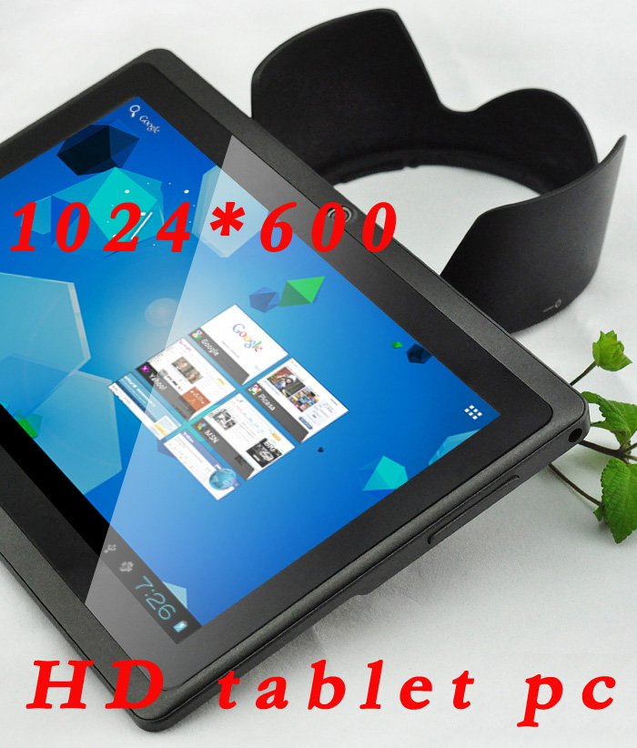 High quality 2013 Xmas 7 inch android 4.1 Capacitive Screen WIFI HD 1024*600 pixels tablet pc black