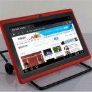 """7""""Red 1024*600 pixels android 4.1 Capacitive 512M 4GB dual Camera  WIFI tablet pc 2013 Xmas gift"""