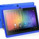 "High Display 7""Allwinner A13 Q88 512M 4G wifi Camera bluetooth tablet Blue 2013 Xmas gift."