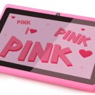 "New 2013 7""android 4.0 512MB 4GB WIFI Camera Capacitive Q88 upgrade HDMI tablet Pink Xmas gift"