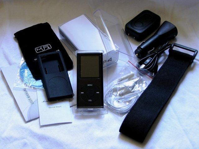 Nano II Style 4GB Mp4 Player +FM+Game+Reading