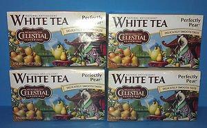8 Boxes Antioxidant White Tea Celestial Seasonings Perfectly Pear (20 Count)