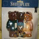 """DOUBLE-SWITCHPLATE,""""BEAR FAMILY"""", NEW IN SEALED PLASTIC"""