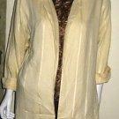 RAFFERTY  Beautiful Yellow Jacket Blazer, Size Medium