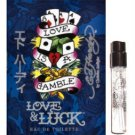 ✈ Ed Hardy ★ LOVE & LUCK ★2 TRAVEL SPRAY Vials ★ Airline Approved Carry-On
